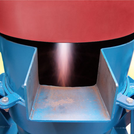 Close up of Ladle Heater in action
